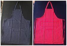 NUOVO Adulti Poly/Cotone Tasca Anteriore macellaio ristorazione cucina da cucina Grembiule COMPLETO