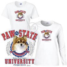 Pomchi Dog Paw State Univesity Ladies Short / Long Sleeve White T Shirt S-3X
