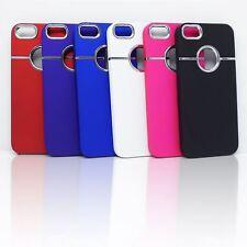 Lujo Cromo Dorso Duro Plástico Funda Para IPHONE SE 5S 5