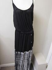 Three Dots Tie Dye Cami Maxi Dress Black NWT $164