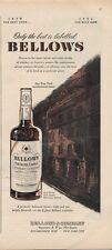 1951 Bellows Whiskey Scotch Vintage Bottles PRINT AD