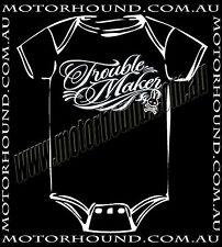 BABY ROMPER PUNK MY BABY ROCK TROUBLE MAKER TATTOO DESIGN NEWBORN 00 6-12 MONTHS