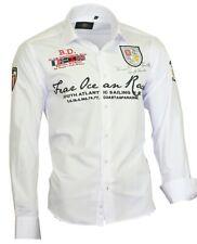 BINDER de LUXE Herren Hemd Polo Shirt Kontrast Party Clubwear NEU 80502 weiß