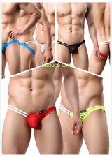 New Men Trendy Lingerie Transparent G-string Pouch Underwear Thongs Brief Shorts