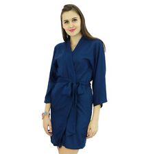 Bimba Women Short Solid Belt Robe Soft Modal Cotton Wrap Round Plain Bath Robe