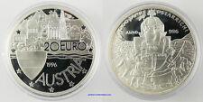 20 EURO  ARGENT  1996  ,  1000 ANS DE L'AUTRICHE ,  FDC