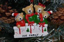 Personalised or Plain Christmas / Xmas Tree Decoration - 4 Family *FREE GIFTBAG*