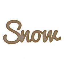 Nieve palabra Mdf Corte Láser Craft Blanks En Varios Tamaños