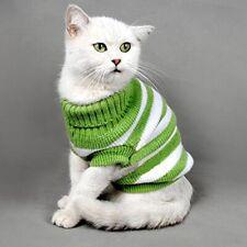 Rayé Chats Pull Aran Pull Tricoté Vêtements pour Petit Chien Chaton Kitty