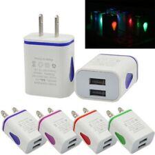 2A Dual USB Ports LED Quick Charging Universal Phone Home Charger US/EU Plug
