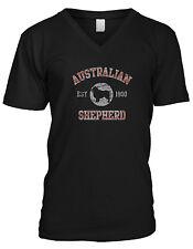 Australian Shepherd EST 1900 Dog Lovers Pure Bred Canine Paws Breed Mens V-Neck
