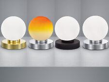 LED Tischleuchten rund moderne Nachttischleuchten aus Metall mit TOUCH DIMMER