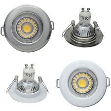 LED Einbaustrahler Tim / Starr / 5W / 230Volt / Bohrung = 55 bis 60mm / Ø = 80mm