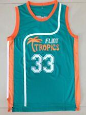 Jackie Moon #33 Flint Tropics Semi Pro Movie Basketball Jersey Teal