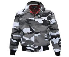 Heavy Harrington Jacket Tartan Lined Urban City Camo Punk Skinhead Jacke Army