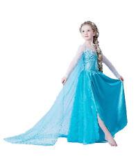 Expédié de Paris - Robe Bleue Elsa Reine Des Neiges Princesse Enfant 2 à 12 ans