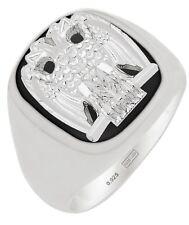 New Customizable Men's Sterling Silver Gold Masonic Scottish Rite Mason Ring