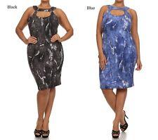 JUNIORS MISSES PLUS SIZE DISTRESSED DENIM PRINT SHEATH DRESS  XL 2XL 3XL