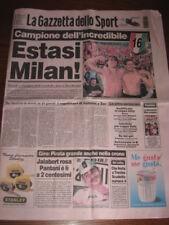 GAZZETTA DELLO SPORT  MILAN CAMPIONE D'ITALIA 1998/99 16° SCUDETTO