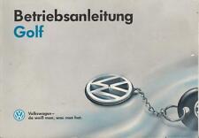 VW  GOLF 3 Betriebsanleitung  1992  Bedienungsanleitung Handbuch  Bordbuch  BA