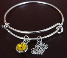 Ireland Bracelet, Ireland Charm, Ireland Pendant, Ireland Jewelry, Ireland Girl