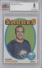 1971-72 Topps #36 Roger Crozier BVG 8 Buffalo Sabres Hockey Card