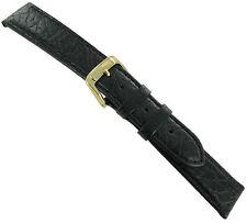 18mm Speidel Sport Calf Genuine Leather Black Men's Watch Band Strap Regular