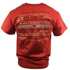 SPORTS CENTER Men's T-shirt Disney Baseball Game ESPN Quotes Home Run Athletics