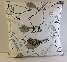 CUSHION COVERS BRAND NEW BROWN BIRD MADE USING IKEA FABRIC
