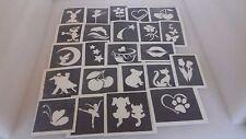 10 - 100 Niñas tema plantillas para tatuaje brillo/aerógrafo Sirena Delfín Star