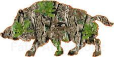 Camo Orange Wild Hog Vinyl Sticker Decal boar pig hunting bow sal feral