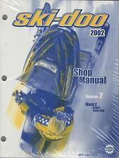 2002 SKI-DOO SNOWMOBILE SHOP MANUAL VOLUME 2 MACH Z NEW  484 200 034