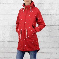 Derbe Damen Softshell Jacke Island Friese Dots rot weiss gepunktet Regenjacke