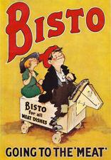 AD51 vintage BISTO sauce classique publicité publicité poster A4