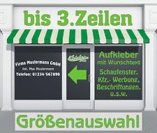 3. Zeilen Aufkleber Beschriftung 50-170cm Werbung Sticker Werbebeschriftung LkW