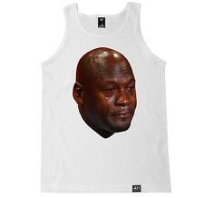 MJ CRYING FACE FUNNY HUMOR COSTUME RETRO AIR SHOES JORDAN HIP HOP MEME TANK TOP