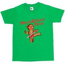 Ninja Bread Man Gingerbread Ninja With Sword Kids Boys / Girls T-Shirt