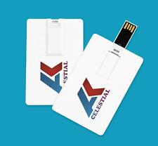 8GB 16GB 32GB USB 2.0 Memory Stick Flash Drive Credit Card Style White Blank