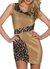Sexy Miss mini vestido punta brillo dress S/M 34/36 M/L 36/38 Gold negro beige