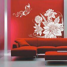 Elegante Fiore Wall Art Decalcomania, farfalla adesivi murali, Adesivi da parete -- pd54