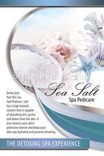 Nail Salon Poster - Sea Salt - Nail Spa Pedicure - Detoxing - Poster || P-222