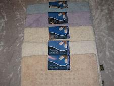100% Cotton Bath Rug Mat 20x28 Absorbent Soft Rectangular Shag Squares New!