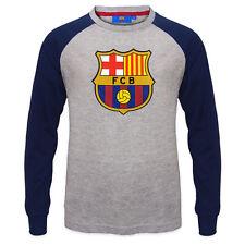 FC Barcelona Official Football Gift Kids Crest Long Sleeve Raglan T-Shirt
