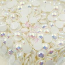 1000PCS AB Ceramic Color Faux Pearl Nail Art Phone Case Beauty 3D DIY Decoration