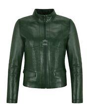 SUPREME Ladies Jacket Green Casual Cool Flight Coat Genuine Leather Jacket 011