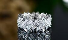 Womens 18K Gold Plated Swarovski Crystal & Cubic Zirconia Ring Band 7, 8, 10.5