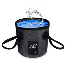 Folding Water Bucket Collapsible Pvc Waterproof Bag Storage for Camping Fishing