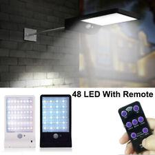 Solar Power 48 LED Road Motion Sensor Wall Light Outdoor Garden Waterproof Lamp