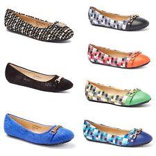 New Womens Lady Designer Comfort Slip On Ballet Flats Many Colors & Styles
