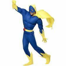 Bananaman Padded Suit Superhero Deluxe Novelty Adults Men Fancy Dress Costume